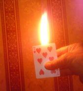 Фокус с горящей картой